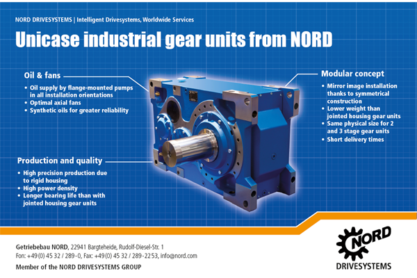Industrial gear units