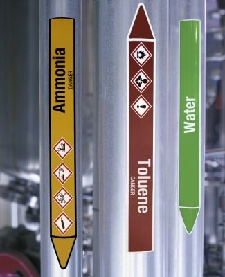 Pipe markers and safety signs
