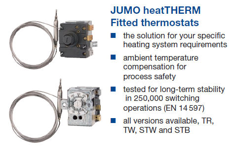 Jumo heatTHERM fitted thermostats