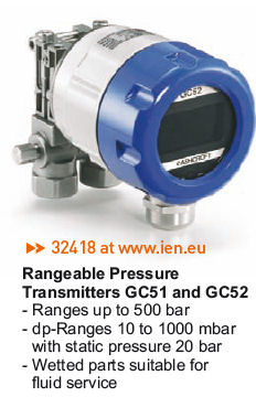 Pressure transmitter GC51 and GC52