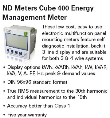 Cube 400 Energy Management Meters