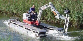 Conveyor belts for amphibious vehicle