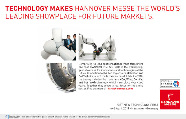 Hannover Fair, 4 - 8 April