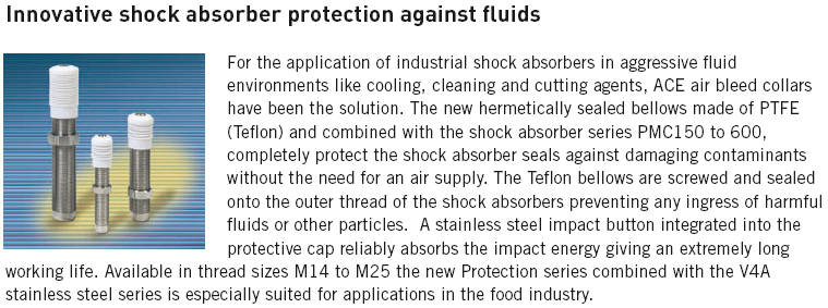 Shock absorber protection against fluids