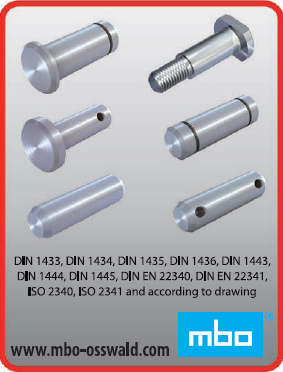 Bolts, ISO 2340, ISO 2341 & according to drawing