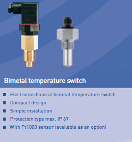 Bimetal temperature switch