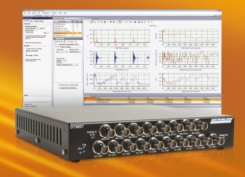 16-channel sound and vibration measurement over USB