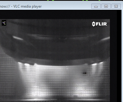 Thermal image of the BMW test rig