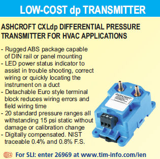 CXLdp differential pressure transmitter