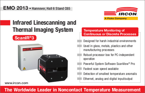 New stand-alone infrared linescanning system allowing thermal images of industrial processes