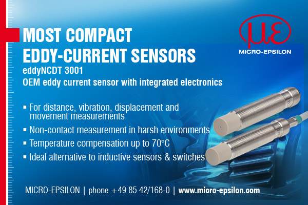 Most Compact Eddy-Current Sensors