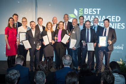 Mikael Helmerson, CEO of Roxtec, received the award 2019 Sweden's Best Managed Companies during a prize ceremony at Fotografiska in Stockholm on Thursday, March 14